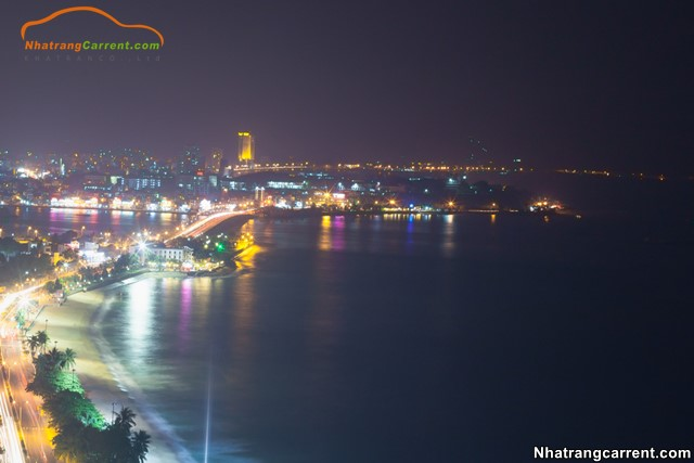 Nha Trang beach at night