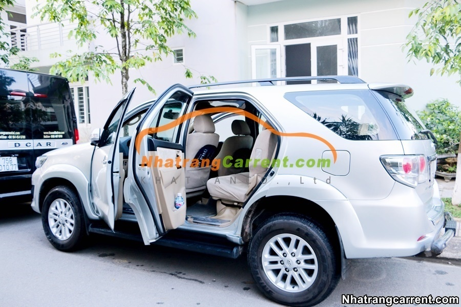 Toyota Fortuner Car rental with the driver Nha Trang