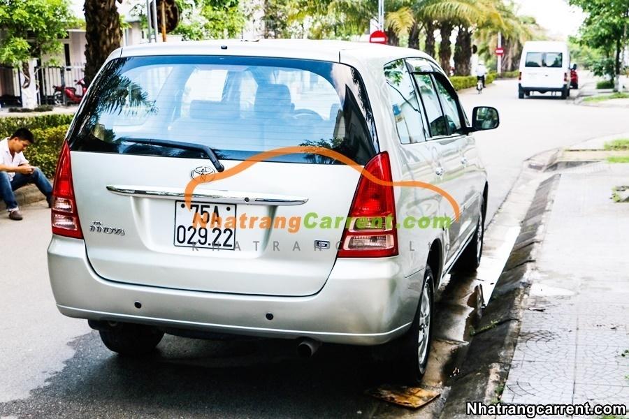 Toyota Innova Nha Trang hire a car