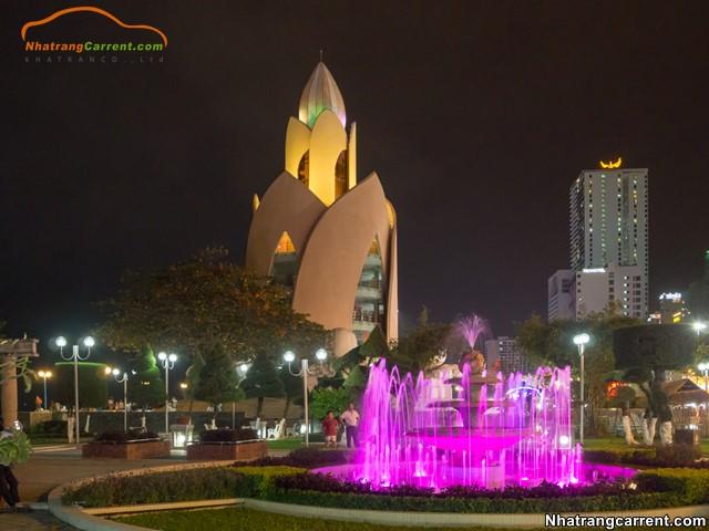 Tram Huong Tower nha trang at night