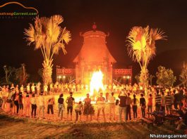 Village of Lak Kon Ku Nha Trang at night