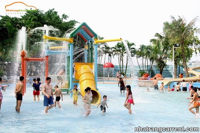 Water slides area at Phu Dong Water Park
